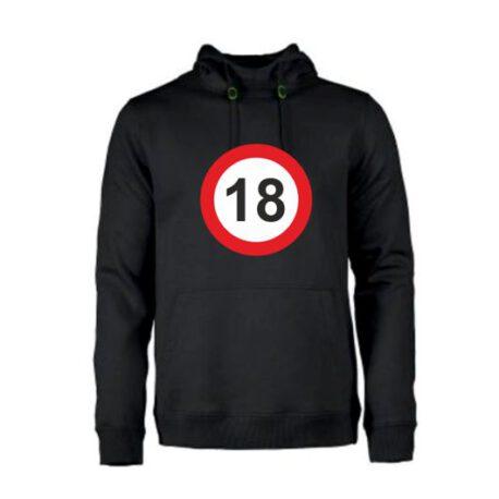 heren hoodie 18 zwart