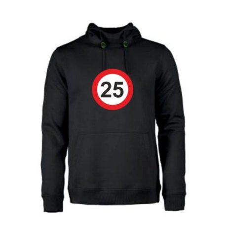 heren hoodie 25 zwart