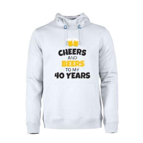 heren hoodie 40 bier