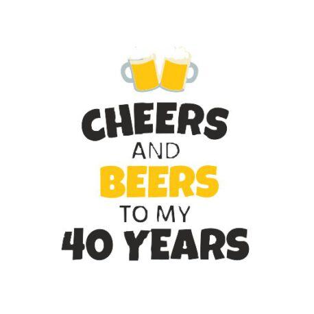 heren hoodie 40 bier logo