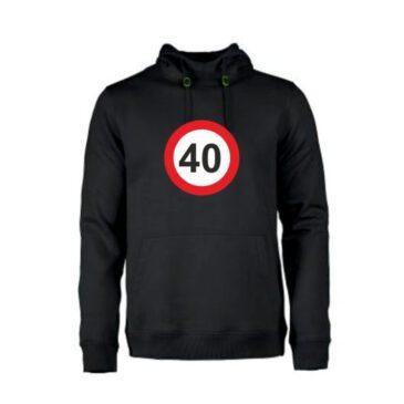 Heren hoodie 40 jaar