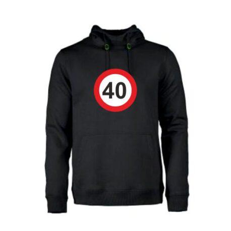 heren hoodie 40 zwart
