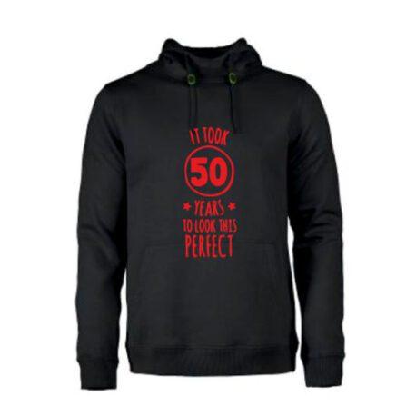 heren hoodie 50 jaar zwart