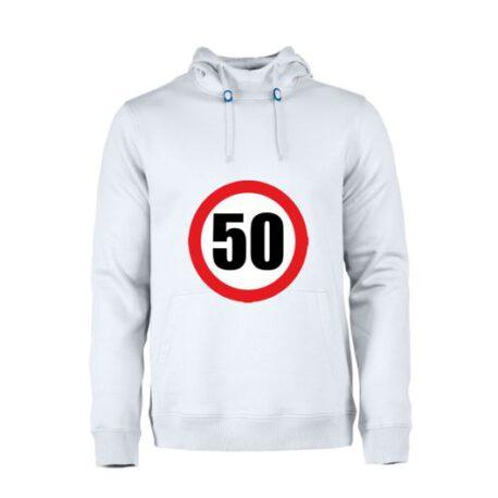 heren hoodie 50 verkeersbord