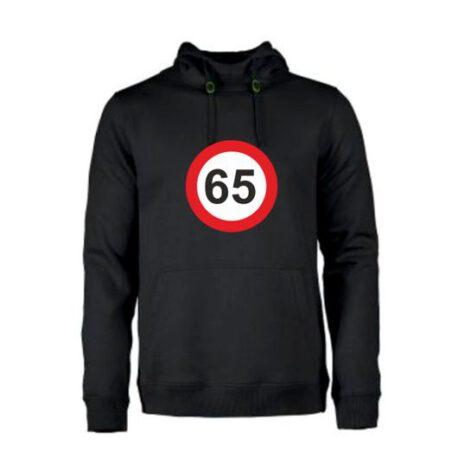 heren hoodie 65 zwart