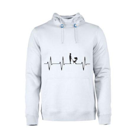 heren hoodie heart bbq