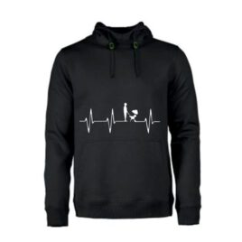 heren hoodie heart beat BBQ
