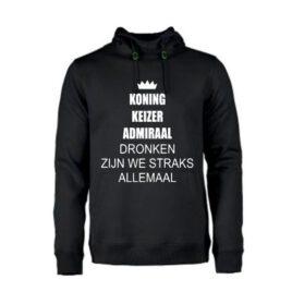 heren hoodie Koning keizer Admiraal
