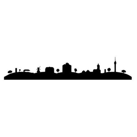 heren hoodie skyline markelo logo