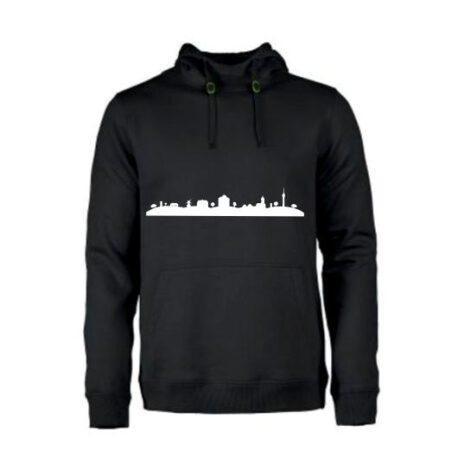 heren hoodie skyline markelo zwart