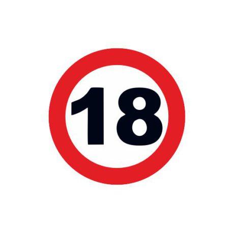 heren shirt 18 logo