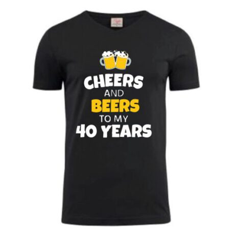 heren shirt 40 bier zwart