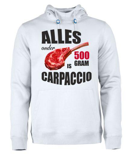 hoodie.alles onder 500 gram is carpaccio.wit