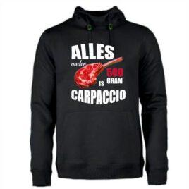 heren hoodie alles onder de 500 gram is carpaccio
