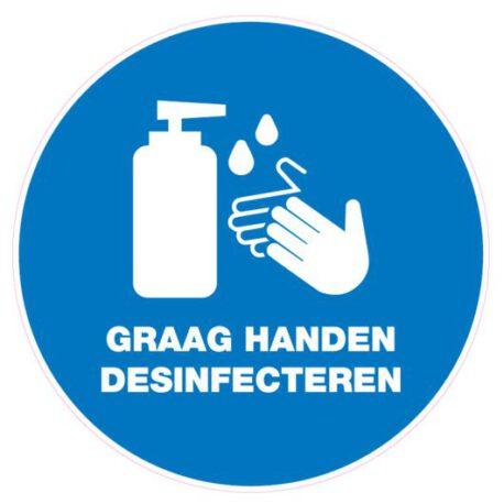 graag handen desinfecteren