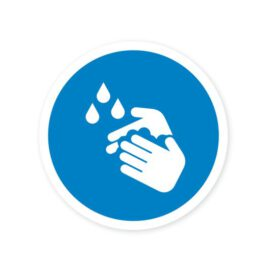 Vinyl stickers rond graag handen wassen