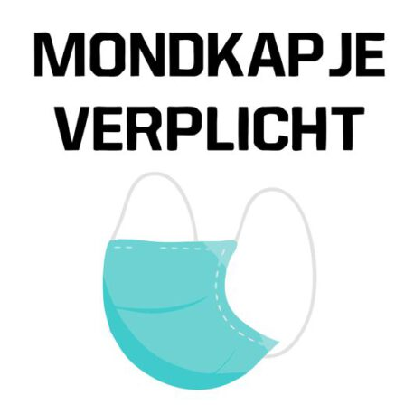 mondkapje sticker