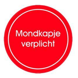 Vinyl stickers rond mondkapje verplicht
