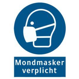 Vinyl stickers mondmasker verplicht