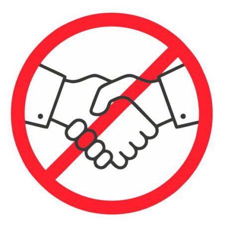 schud geen handen sticker