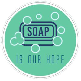 Vinyl stickers rond soap is our hope