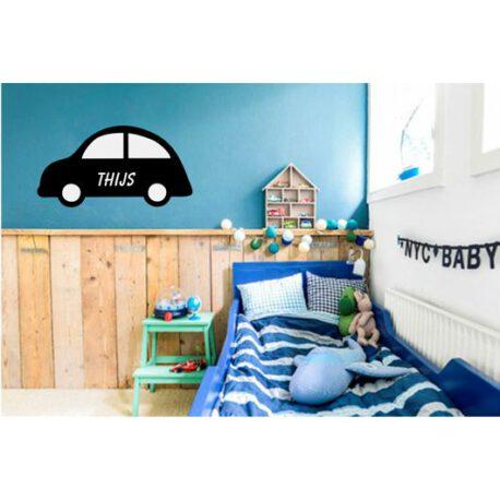 auto met naam slaapkamer