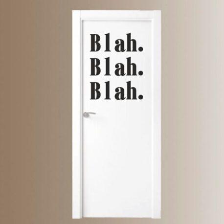 blah blah blah deur