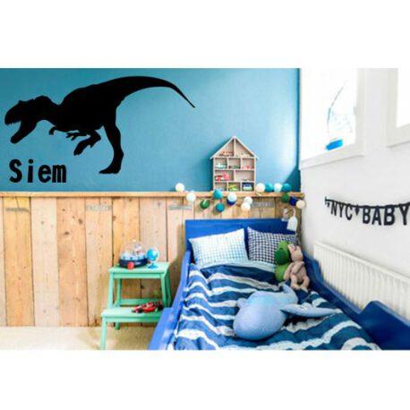 dino met naam in slaapkamer