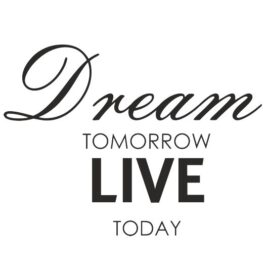 Dream Tomorrow Live Today