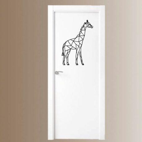 giraffe op deur