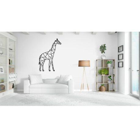 giraffe op muur