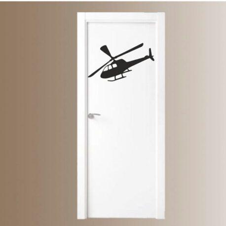 helikopter in deur