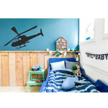 helikopter in slaapkamer