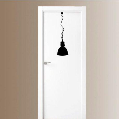 lamp industrieel op deur