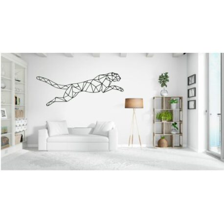 leeuwpaard op muur
