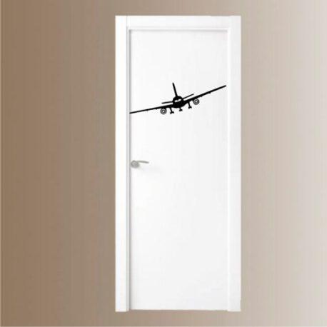 vliegtuig op deur