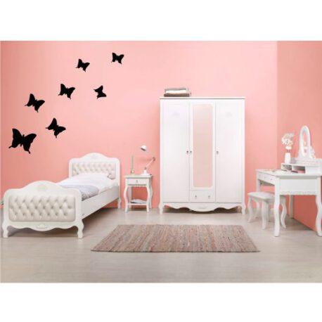 vlinders op slaapkamer