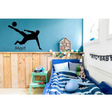voetballer met naam in slaapkamer