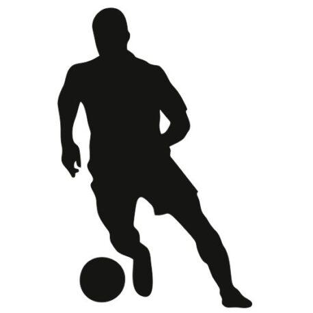 voetballer staand