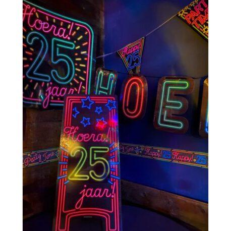 25 jaar neon bord