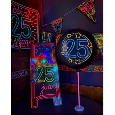 25 jaar neon box