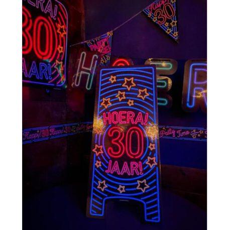 30 jaar neon bord
