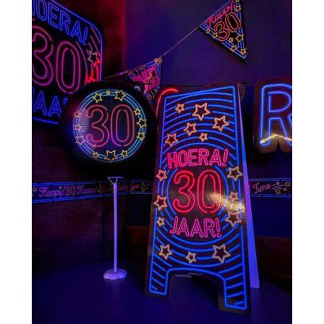 30 jaar neon bord balon