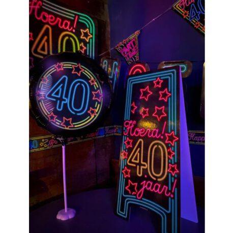 40 jaar neon balon