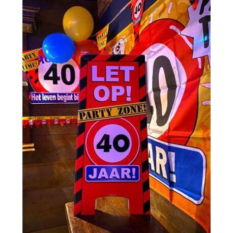 40 jaar verkeersbord balon