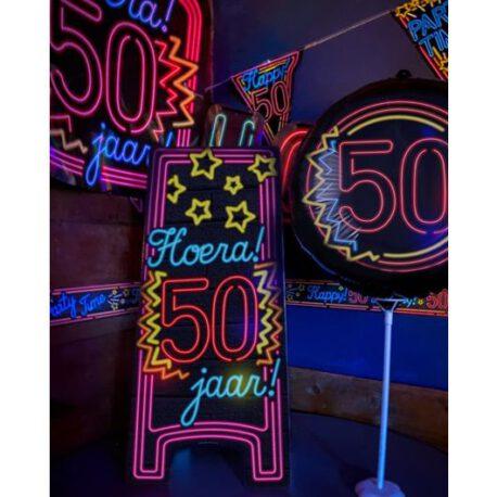 50 abraham neon ballon