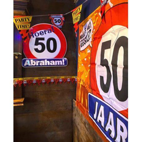 50 abraham verkeersbord