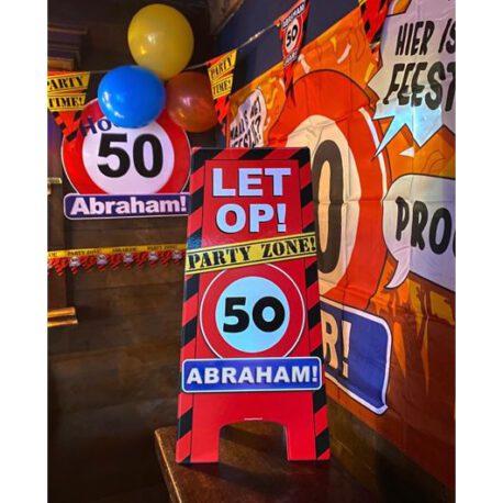 50 abraham verkeersbord ballon