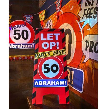50 abraham verkeersbord bord
