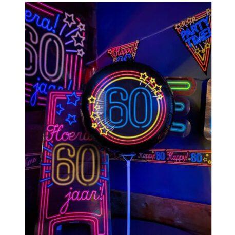 60 neon bord balon